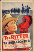 "Movie Posters:Western, Arizona Frontier (Monogram, 1940). One Sheet (27"" X 41""). Western.. ..."