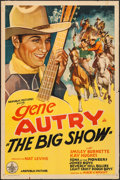 """Movie Posters:Western, The Big Show (Republic, R-1940s). Stock One Sheet (27"""" X 41""""). Western.. ..."""