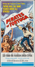 "Movie Posters:Adventure, Pirates of Tortuga & Others Lot (20th Century Fox, 1961). ThreeSheets (5) (41"" X 77.5"", 41"" X 78"", 41"" X 78.5"", & 41"" X 84""...(Total: 5 Items)"