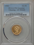 1902 $2 1/2 -- Cleaning -- PCGS PR Genuine. AU Details....(PCGS# 7928)