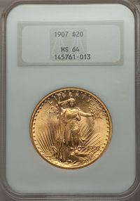 1907 $20 Arabic Numerals MS64 NGC....(PCGS# 9141)
