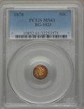 California Fractional Gold , 1870 50C Liberty Round 50 Cents, BG-1023, Low R.7, MS61 PCGS....
