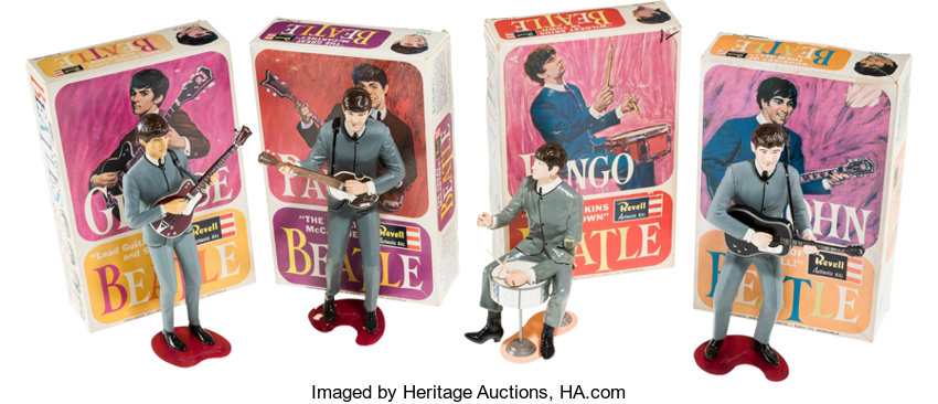 Beatles Complete Set of Four Revell Models with Boxes