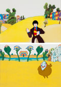 Music Memorabilia:Original Art, Beatles Yellow Submarine Animation Cel Group of 2 (United Artists/King Features, 1968)....