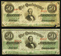 Confederate Notes:1863 Issues, T57 $50 1863 PF-16 Cr. 413; PF-3 Cr. 408.. ... (Total: 2 notes)