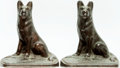 "Books:Furniture & Accessories, [Bookends]. Pair of Matching ""Seated Shepherd"" Bookends. Unsigned,circa 1925. ... (Total: 2 Items)"