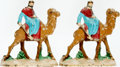 Books:Furniture & Accessories, [Bookends]. Pair of Matching Bookends Depicting Camel and Rider. Unsigned, undated.... (Total: 2 Items)