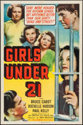 "Movie Posters:Bad Girl, Girls Under 21 (Columbia, 1940). One Sheet (27"" X 41""). Bad Girl....."