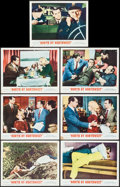 """Movie Posters:Hitchcock, North by Northwest (MGM, R-1966). Lobby Cards (7) (11"""" X 14"""").Hitchcock.. ... (Total: 7 Items)"""