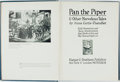 Books:Children's Books, Anna Curtis Chandler. Pan the Piper & Other MarvelousTales. New York & London: Harper & Brothers, 1923.First editi...