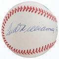 Baseball Collectibles:Balls, Ted Williams and Joe DiMaggio Multi Signed Baseball....