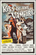 """Movie Posters:Horror, Kiss of the Vampire (Universal, 1963). One Sheet (27"""" X 41""""). Horror.. ..."""