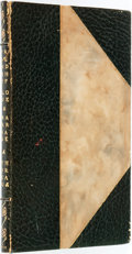 Books:Social Sciences, [Roycrofters]. Henry D. Thoreau. Friendship, Love and Marriage.Printed by the Roycrofters. East Aurora, NY: Elbert Hubb...