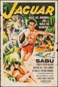 "Movie Posters:Adventure, Jaguar & Other Lot (Republic, 1955). One Sheet (27"" X 41"") andInsert (14"" X 36""). Adventure.. ... (Total: 2 Items)"