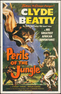 """Movie Posters:Adventure, Perils of the Jungle (Commodore, 1953). One Sheet (27"""" X 41"""").Adventure.. ..."""