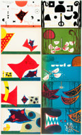 """Books:Art & Architecture, Warja Honegger Lavater. Pair of """"Folded Story"""" Books. Titles include: The Ugly Duckling [and:] Lucky Jack. [New York... (Total: 2 Items)"""