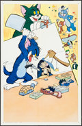 "Movie Posters:Animation, Tom and Jerry Stock (MGM, 1952). One Sheet (27"" X 41""). Animation.. ..."