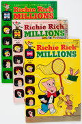Bronze Age (1970-1979):Humor, Richie Rich Millions File Copy Short Box Group (Harvey, 1969-82) Condition: Average VF/NM....