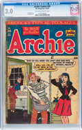 Golden Age (1938-1955):Humor, Archie Comics #26 (Archie, 1947) CGC GD/VG 3.0 Off-white to white pages....
