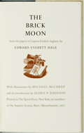 Books:Science Fiction & Fantasy, Michael McCurdy, illustrations. SIGNED/LIMITED. Edward Everett Hale. The Brick Moon. Barre: The Imprint Society,...