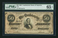 Confederate Notes:1864 Issues, T66 $50 1864 PF-21 Cr. UNL.. ...