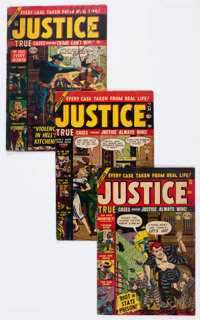 Justice Comics Group of 14 (Atlas, 1951-55) Condition: Average VG/FN.... (Total: 14 Comic Books)