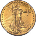 High Relief Double Eagles, 1907 $20 High Relief, Flat Rim -- Improperly Cleaned -- NGC Details. Unc....