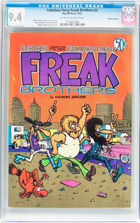 The Fabulous Furry Freak Brothers #2 Haight-Ashbury pedigree (Rip Off Press, 1972) CGC NM 9.4 Off-white to white pages...