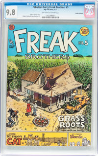 The Fabulous Furry Freak Brothers #5 Haight-Ashbury pedigree (Rip Off Press, 1977) CGC NM/MT 9.8 Off-white to white page...