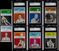 Basketball Cards:Lots, 1961 Fleer Basketball SGC Graded Collection (8)....