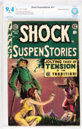 Golden Age (1938-1955):Horror, Shock SuspenStories #17 Gaines File pedigree 4/12 (EC, 1954) CBCSNM 9.4 White pages....