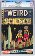 Golden Age (1938-1955):Science Fiction, Weird Science #7 (EC, 1951) CGC VF+ 8.5 Off-white to whitepages....