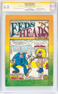 Silver Age (1956-1969):Alternative/Underground, Feds 'N Heads #1 First Printing Signed by Gilbert Shelton (GilbertShelton, 1968) CGC FN 6.0 Cream to off-white pages....
