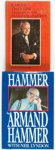 Books:Biography & Memoir, [Armand Hammer]. Pair of Autobiographies. Various publishers and dates. Titles include: Larger than Life: An Autobio... (Total: 2 Items)