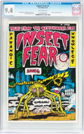 Bronze Age (1970-1979):Alternative/Underground, Insect Fear #1 (Print Mint, 1970) CGC NM 9.4 Off-white pages....