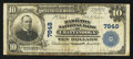 National Bank Notes:Tennessee, Chattanooga, TN - $10 1902 Plain Back Fr. 624 The Hamilton NB Ch. # 7848. ...