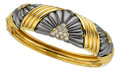 Estate Jewelry:Bracelets, Diamond, Gold, Steel Bracelet, Chaumet. ...