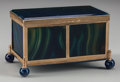 Decorative Arts, Continental:Other , A Blue and Green Agate Table Casket, 19th century. 2-1/2 incheshigh x 4 inches wide x 2-1/2 inches deep (6.4 x 10.2 x 6.4 c...