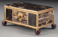 Decorative Arts, Continental:Other , A Marble and Gilt Bronze Table Box, 19th century. 3-1/2 inches highx 6-1/2 inches wide x 3-1/2 inches deep (8.9 x 16.5 x 8....