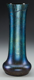 Art Glass:Other , A Bohemian Iridescent Glass Vase, circa 1900. 12-3/4 inches high(32.4 cm). ...