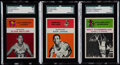 Basketball Cards:Lots, 1961 Fleer Basketball Stars & HoFers SGC Graded Trio (3)....