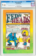 Silver Age (1956-1969):Alternative/Underground, Feds 'N Heads #1 First Printing (Gilbert Shelton, 1968) CGC NM+ 9.6Off-white to white pages....