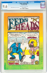 Feds 'N Heads #1 First Printing (Gilbert Shelton, 1968) CGC NM+ 9.6 Off-white to white pages