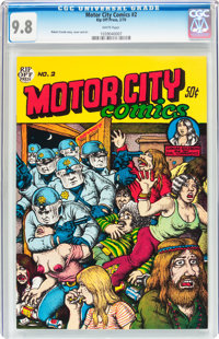 Motor City Comics #2 (Rip Off Press, 1970) CGC NM/MT 9.8 White pages