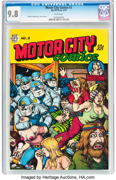Motor City Comics #2 (Rip Off Press, 1970) CGC NM/MT 9.8 White pages....