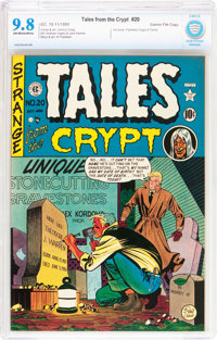 Tales From the Crypt #20 Gaines File pedigree (EC, 1950) CBCS NM/MT 9.8 Off-white to white pages