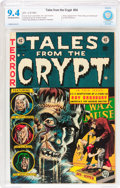 Golden Age (1938-1955):Horror, Tales From the Crypt #34 (EC, 1953) CBCS NM 9.4 Off-white to whitepages....