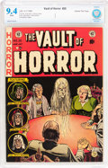 Golden Age (1938-1955):Horror, Vault of Horror #25 Gaines File pedigree 9/12 (EC, 1952) CBCS NM9.4 White pages....