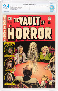 Vault of Horror #25 Gaines File pedigree 9/12 (EC, 1952) CBCS NM 9.4 White pages