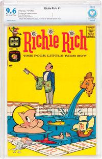Richie Rich #1 (Harvey, 1960) CBCS NM+ 9.6 Off-white to white pages